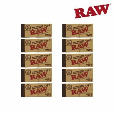 10 RAW Perforated Hemp & Cotton Wild Tips (50 Tips/Pack)
