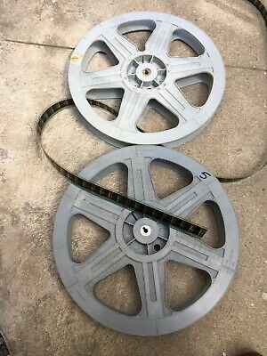 VINTAGE Black 35MM 2000 FT 14.5 X 1 3//4 INCH PLASTIC MOVIE THEATER FILM REEL