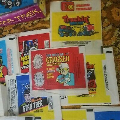 Lot of about 200~ Assorted Vintage Non-Sports Trading Card Wrappers