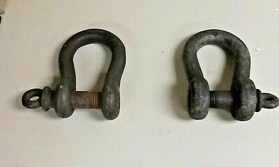 Two High Strength Anchor Shackles With Screw Pin 25 Ton