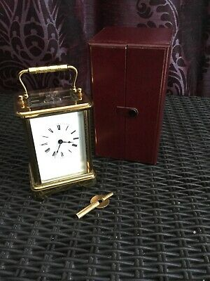 A Fine English Carriage Clock With Box