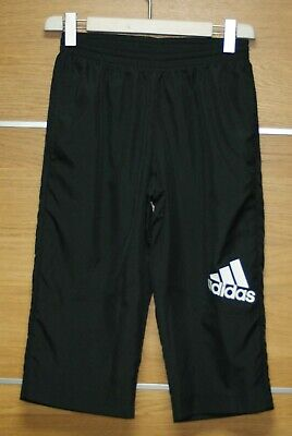 ADIDAS black 3/4 activewear bottoms size 15-16 years