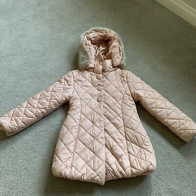 Mayoral Girls Pink Coat Immaculate Age 8