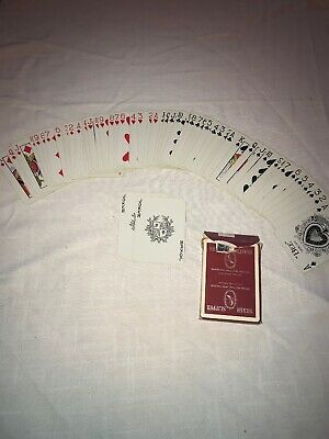 RARE Vintage Las Vegas Silver Slipper Casino RED Playing Cards Complete