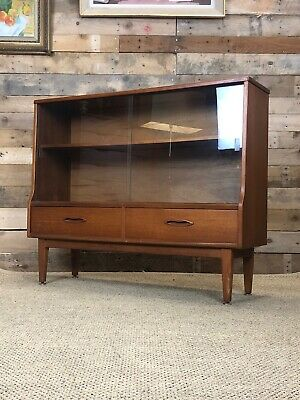 Stylish Mid Century Jentique Teak Bookcase Display Cabinet Danish Retro