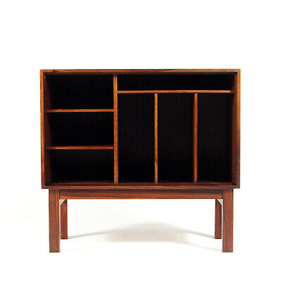 Retro Vintage Danish Rosewood Sideboard Record Cabinet 1960s Mid Century Modern
