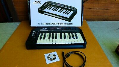 Black25 Key Monoprice MIDI Keyboard Controller Stage Right Series
