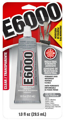 E6000 Adhesive 1.0Oz With Precision Tips Clear Glue Craft Diy Jewelry Projects