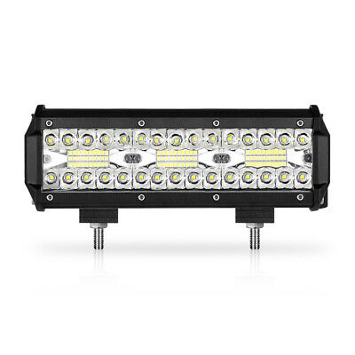 10inch Tri-row LED Work Light Bar 180W Spot Flood Combo Driving Off Road 4WD SUV