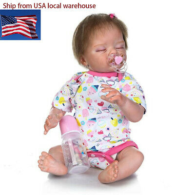 "22"" Lifelike Reborn Baby Dolls Girl Sleeping Doll Realistic Preemie Babies Cute"