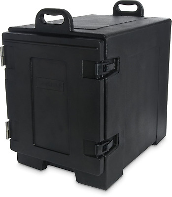 Carlisle PC300N03 Cateraide End-Loading Insulated Food Pan Carrier, 5 Pan Black
