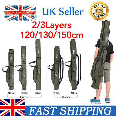 Portable Fishing Rod Carrier Canvas Pole Tool Storage Bag Gear Tackle Bag Z4Y9