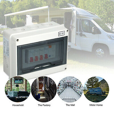 Safe & High-Efficiency 3/4 Way Garage Caravan Consumer Unit 63A 30mA RCD UKSTOCK