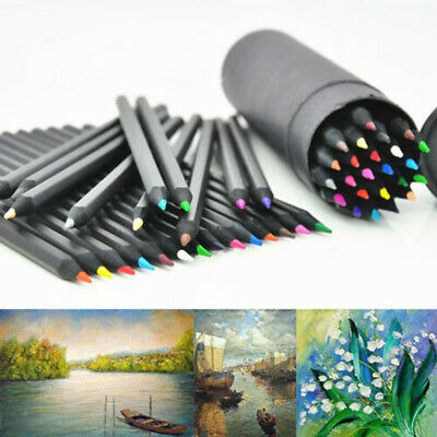 24 Colors Wood Oil Pencils For Drawing Sketching Artist Non-toxic Colour Gift