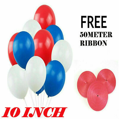 60 Street Party France Football White Blue Red Latex Balloons BALLON NEW