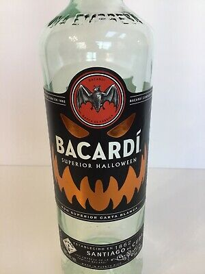 Collectible Bacardi Superior Limited Edition Halloween Empty Bottle - 750 ml