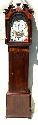 ~ Antique Mahogany Moon Phase Longcase Grandfather Clock RICHARDSON WEVERHAM