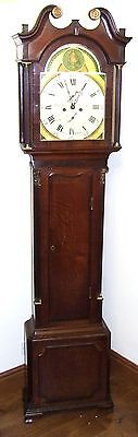 ~ Antique 8 DAY Oak & Mahogany Grandfather Longcase Clock : King, Warwick
