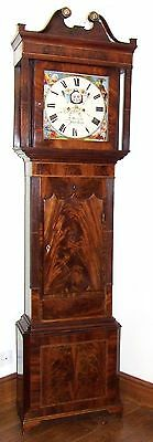 ~ Antique Mahogany Halifax Moon Longcase Grandfather Clock : MADDOCKS FRODSHAM