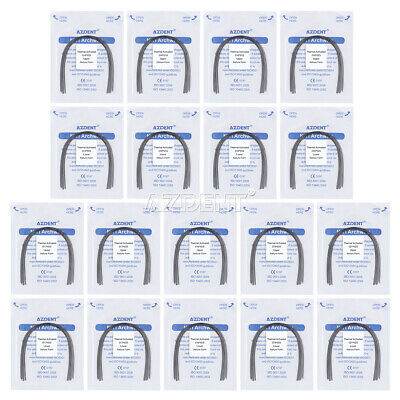 20Packs Dental Orthodontic Niti Thermal Activated Rectangular Arch Wire Natural