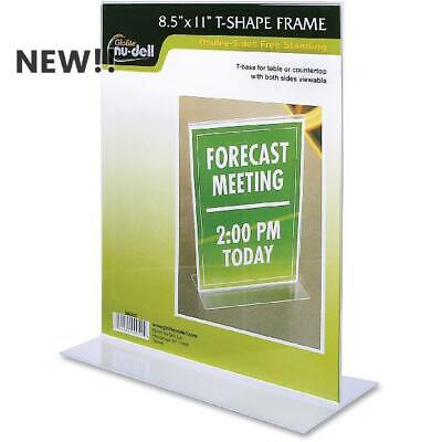 Nu-Dell Double-sided Sign Holder, Clear Holder, 1 Each (Quantity)