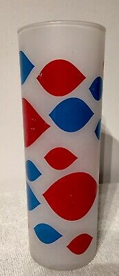 Vintage Original 1960s Dairy Queen Glass Frosted Highball Tumbler Free Shipping