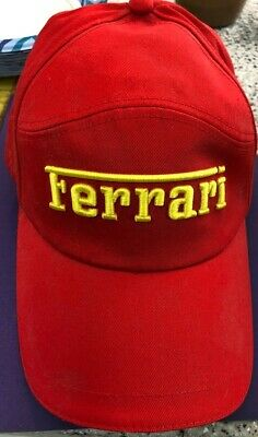 Ferrari Gear Baseball Hat Cap Official Product Red Strapback Embroidered