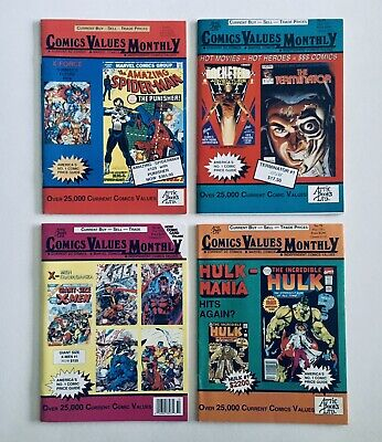 COMICS VALUES MONTHLY, by Attic Books, (Jul, Sep, Oct 1991, May 1992), All NM