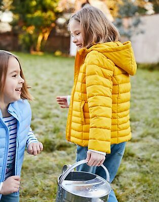 Joules Girls Kinnaird Packaway Quilted Jacket  - ANTIQUE GOLD