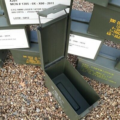 AMMO BOX Army 50 Cal Pre-Used Ammo Can Military Surplus Storage Box Tool Box