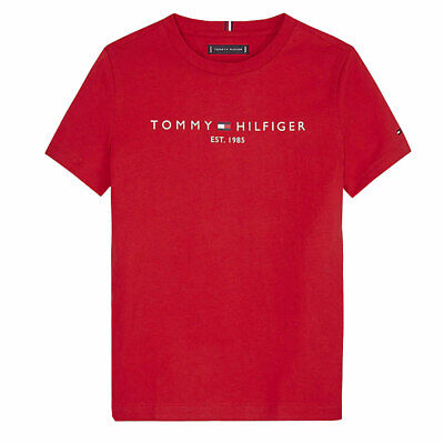 T SHIRT BAMBINO TOMMY HILFIGER stampa logo Rosso EUR 22,00