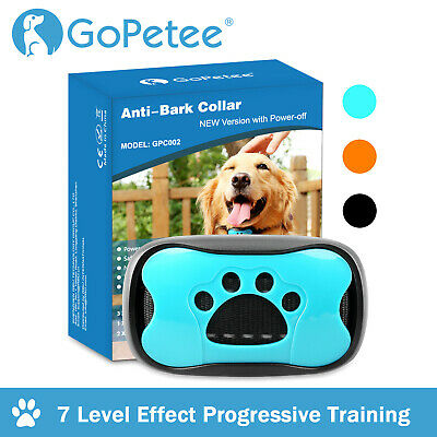 11X Anti Bark Collar Stop Dog Barking Sound & Vibration Adjustable S/M/L 3 Shell