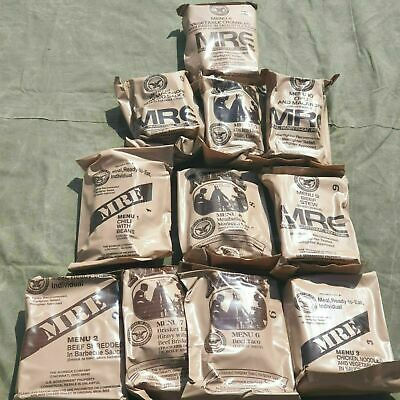 Original US MRE 24 Menüs MEAL READY TO EAT FOOD BW EPA Army NOTRATION Ration Nam
