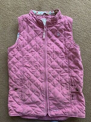 Joules Girls Age 11-12 Pink Quilted Gilet/Bodywarmer Riding