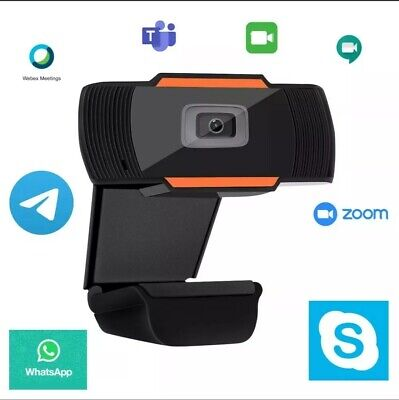 Webcam Skype Pc Full Hd Usb No Drive Videocamera Microfono Facetime Cisco