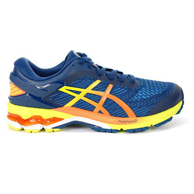 ASICS Men's Gel Kayano 26 Mako Blue/Sour Yuzu Running Shoes 1011A712.400 NEW