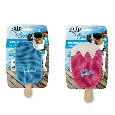 All For Paws AFP Dog Chill Summer Pink Blue Ice Cream Lolly, Keep Cool, Hydrate