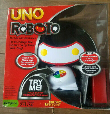 Uno Roboto Game 100% Complete and Working Interactive Wild Card Family Night