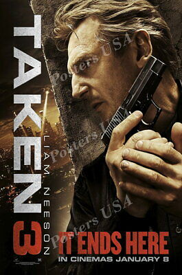 Taken Liam Neeson Movie Poster Glossy Finish MOV409 Posters USA