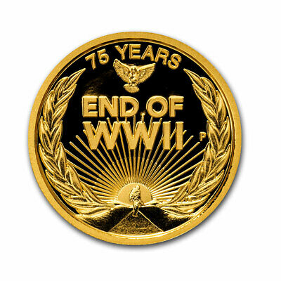 2020 Australia 1/4 oz Gold End of WWII 75th Anniversary Proof - SKU#210358