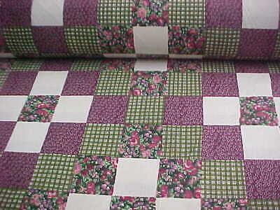 3 Yards ***ON SALE***King Size Cheater Quilt Top Americana Burgundy 90 x 108