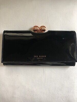 Ted Baker Patent Leather Bobble Lock Matinee Wallet Red New with Tags