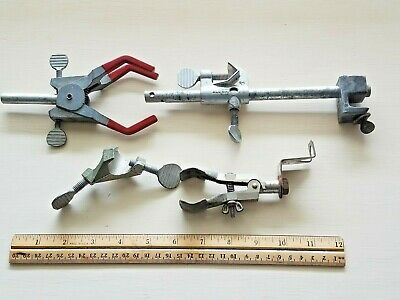 Lot of 4 Laboratory Support Clamps Fisher Lab-Line Rod/Beaker Holder