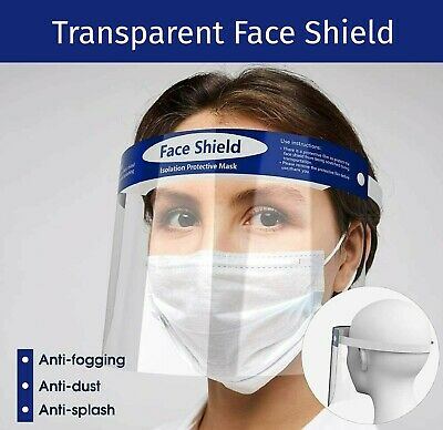 Safety Face Shield Protection Cover Guard Reusable Transparent Anti-Fog