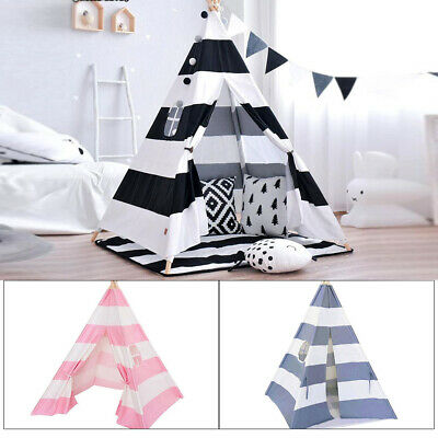 Cotton Canvas Kids Teepee Tent Childrens Wigwam Indoor Outdoor Play House Large