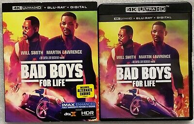 Bad Boys For Life 4K Ultra Hd Blu Ray 2 Disc Set+ Slipcover Sleeve Free Shipping