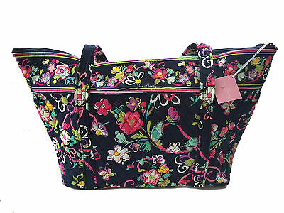 Vera Bradley Miller Travel Carry-on Bag - Ribbons with Solid Pink Interior - NWT