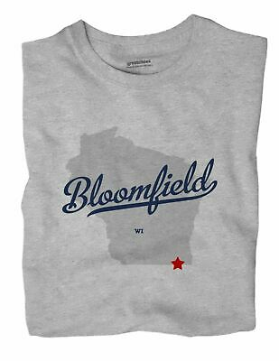Bloomfield Wisconsin WI T-Shirt Walworth County MAP