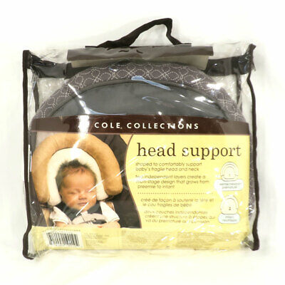 JJ Cole Head Support - Graphite - Preemie / Newborn & Infant Growing Up Safely