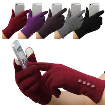 New Womens Touch Screen Gloves Winter Sport Outdoor Warm Leather Gloves 2 Q*
